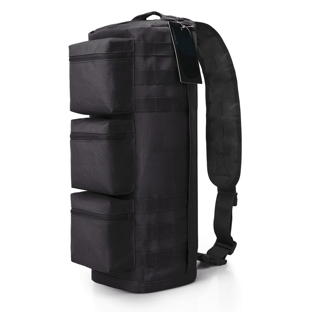 Men's Outdoor Sports Hiking Multi-function Tactical Assault Messenger Gym Hiking Camping Bag Oxford Single Shoulder Bagpack Black