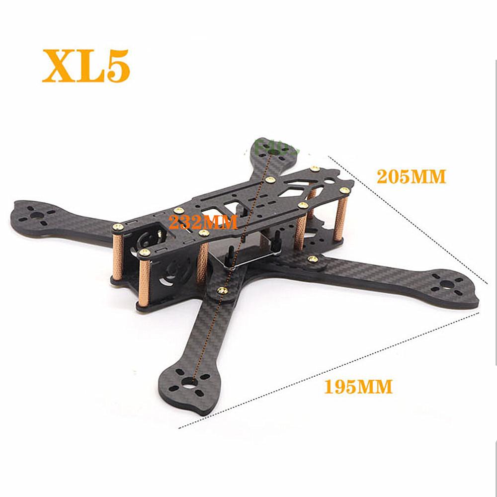 HSKRC XL5/6/7/8/9 232/283/294/360/390mm Carbon Fiber FPV Raicng Frame Kit for RC Drone 232MM KSX3697