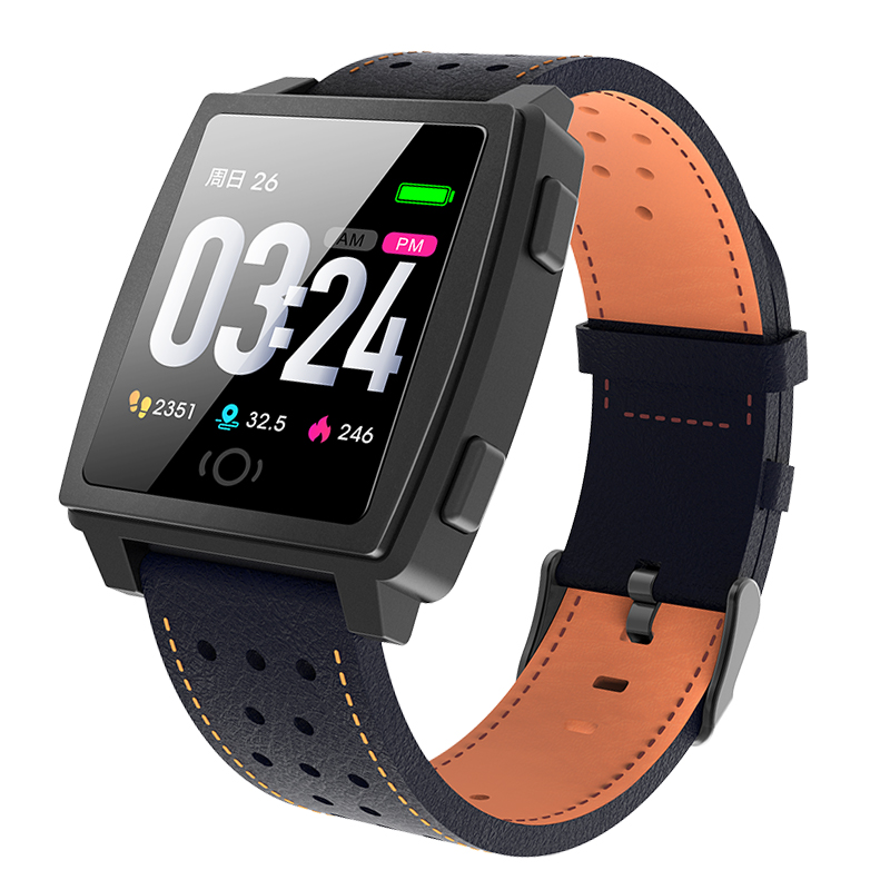 Waterproof Heart Rate Monitor Smart Sports Watch Bracelet With Alarm Clock Android IOS Mobile Phone for Men Women blue