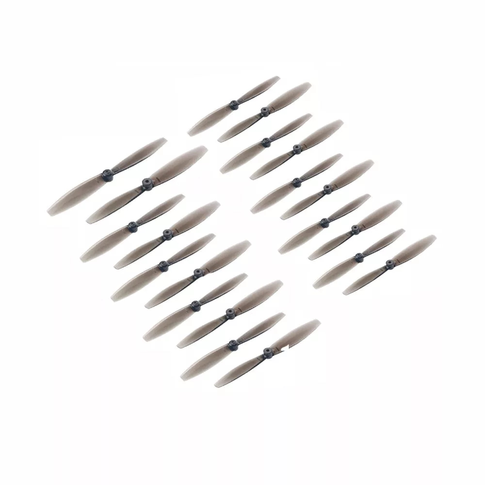 10 Pairs KINGKONG/LDARC 65mm 1.5mm Hole 2-blade Toopick Propeller for RC Drone FPV Racing black