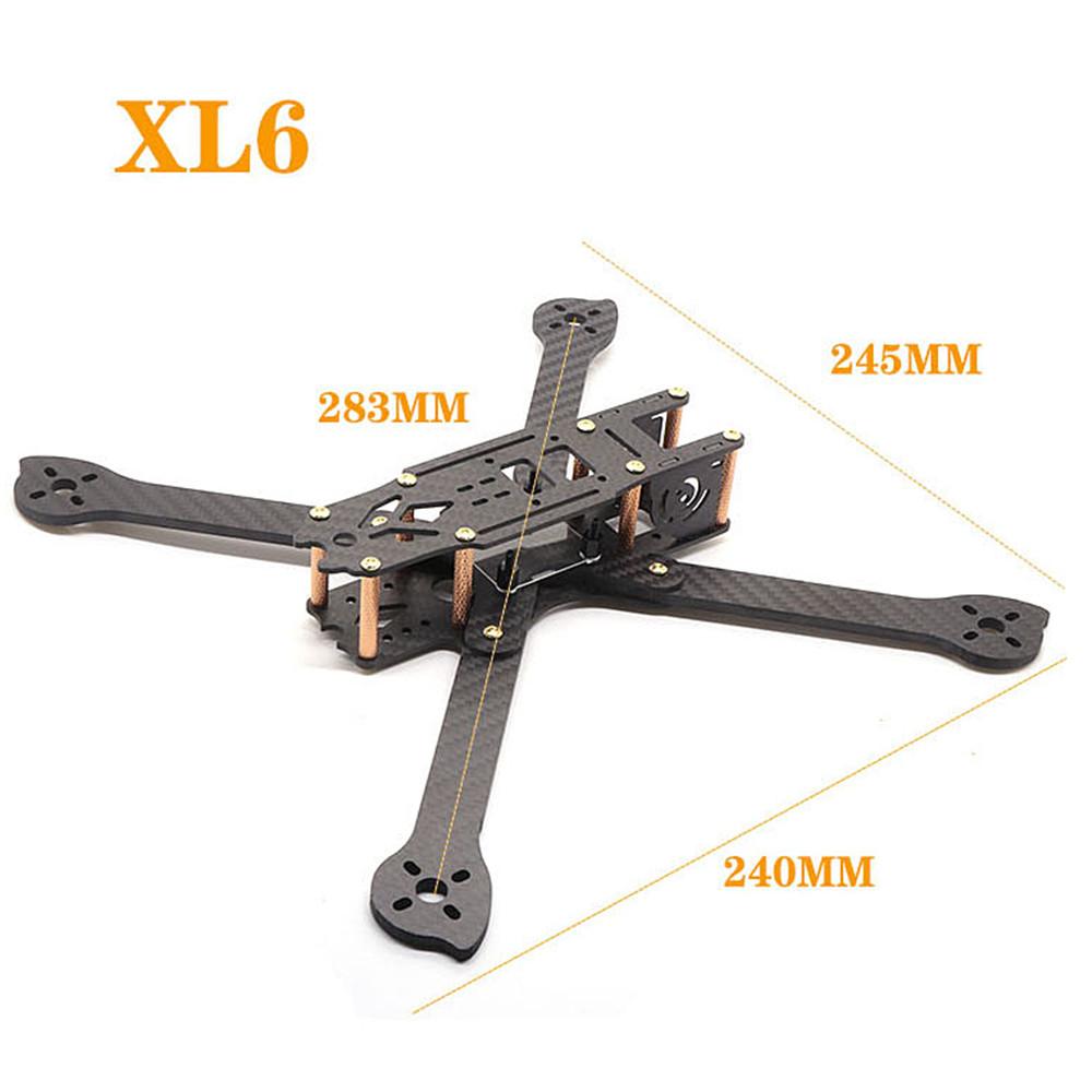 HSKRC XL5/6/7/8/9 232/283/294/360/390mm Carbon Fiber FPV Raicng Frame Kit for RC Drone 283MM KSX3698
