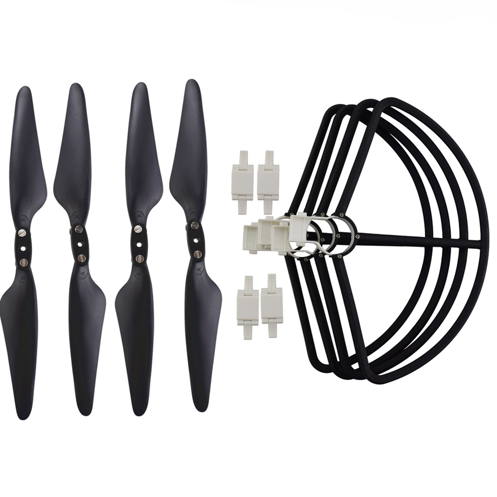 Propeller Protective Cover Protector RC Quadcopter Parts for HUBSAN 117S zino black