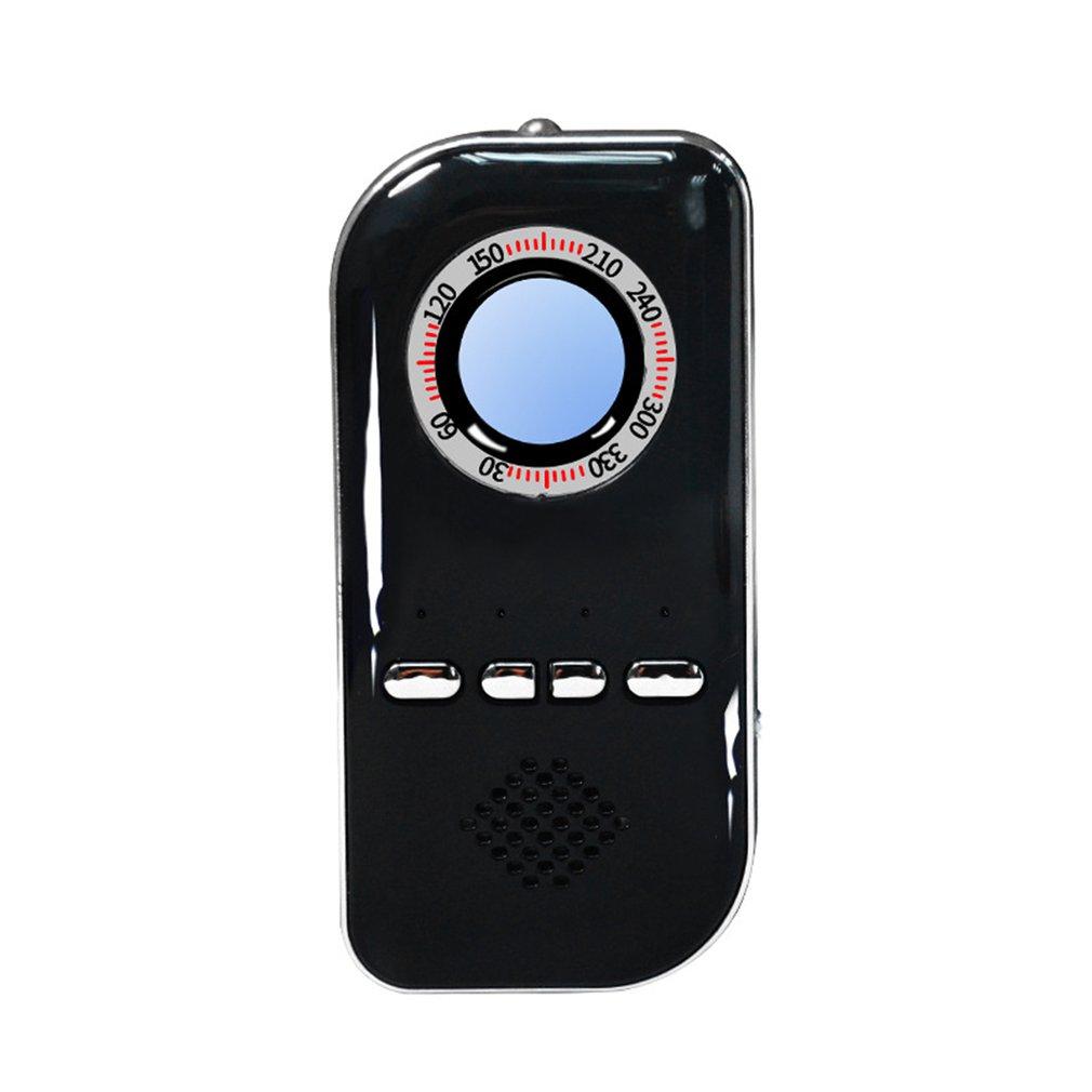 Multi-funcion Camera Search Detector Hotel Monitoring Anti-sneak Detector Burglar Alarm Compass Navigation black
