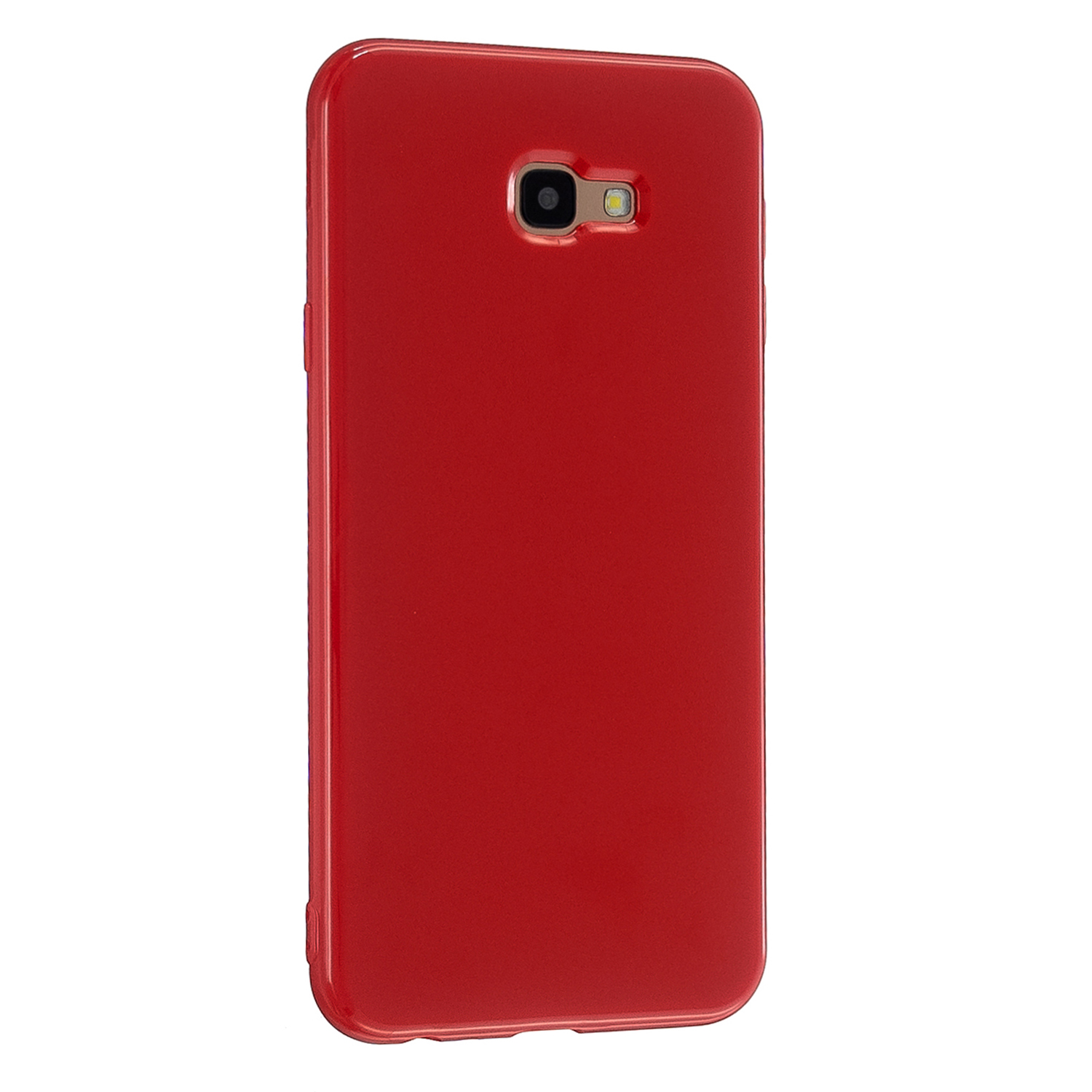 For Samsung J4 2018/J4 Plus/J4 Core/J4 Prime Protective Shell Classic Cellphone Cover Thickened Phone Case Red