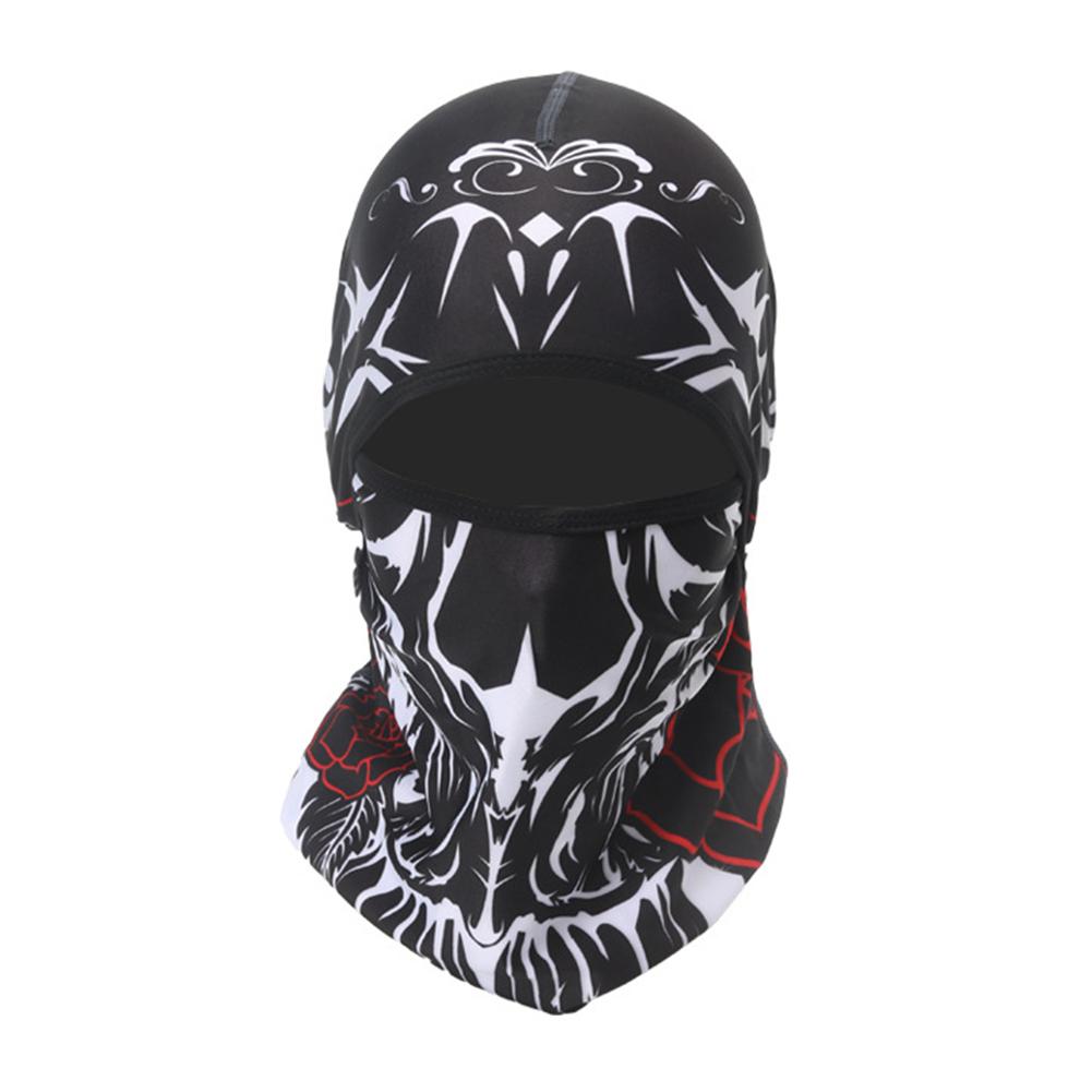 Skull Head Magic Turban Outdoor Sports Cycling Mountaineering Ski Headscarf Warm Breathable Mask 14#_One size