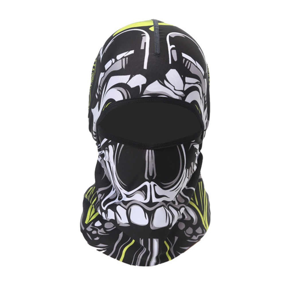 Skull Head Magic Turban Outdoor Sports Cycling Mountaineering Ski Headscarf Warm Breathable Mask 17#_One size