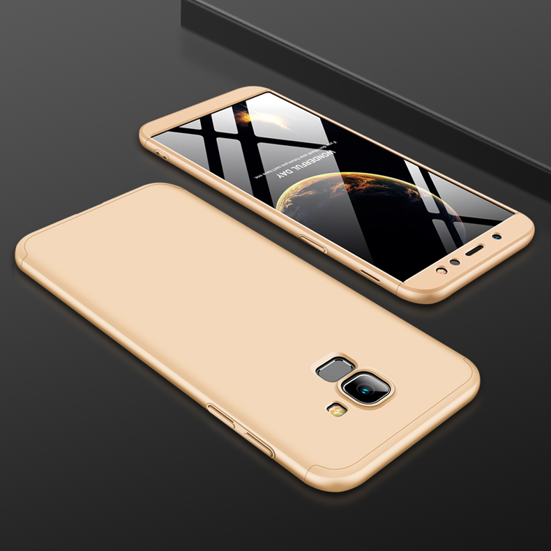 For Samsung A6 2018 360 Degree Protective Case Ultra Thin Hard Back Cover Gold