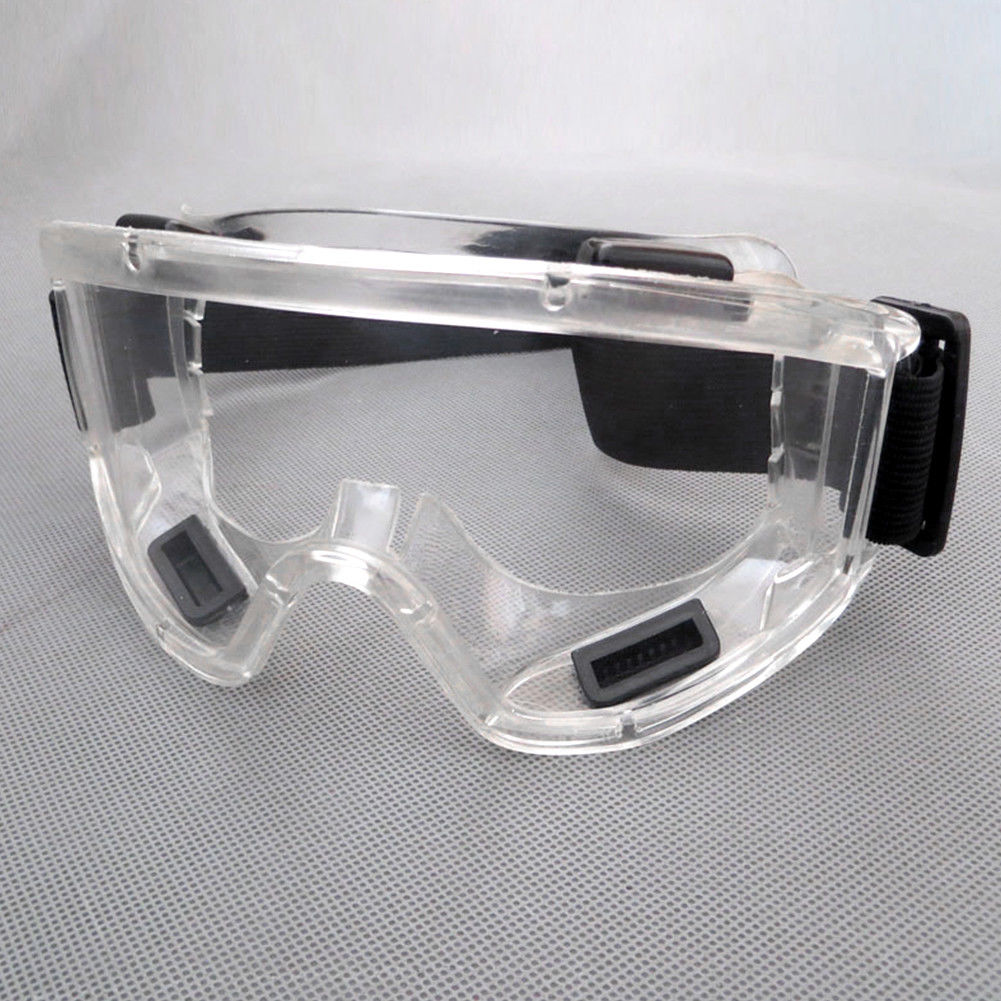 Clear Lens Protective Safety Glasses Eye Protection Goggles  As shown