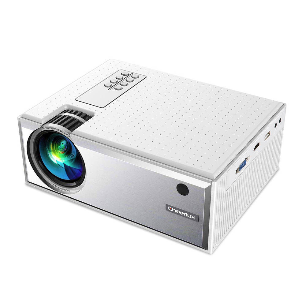 C8 Portable Android Video Projector 1280*720P Native Resolution With WIFI Bluetooth Home Cinema Movie Beamer white_European regulations