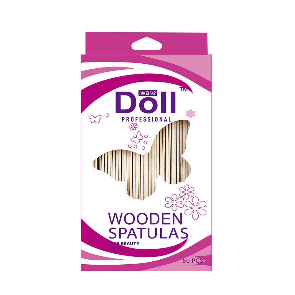 50pcs Waxing Craft Wax Stick Wooden Tongue Depressor Spatula Applicator Stick