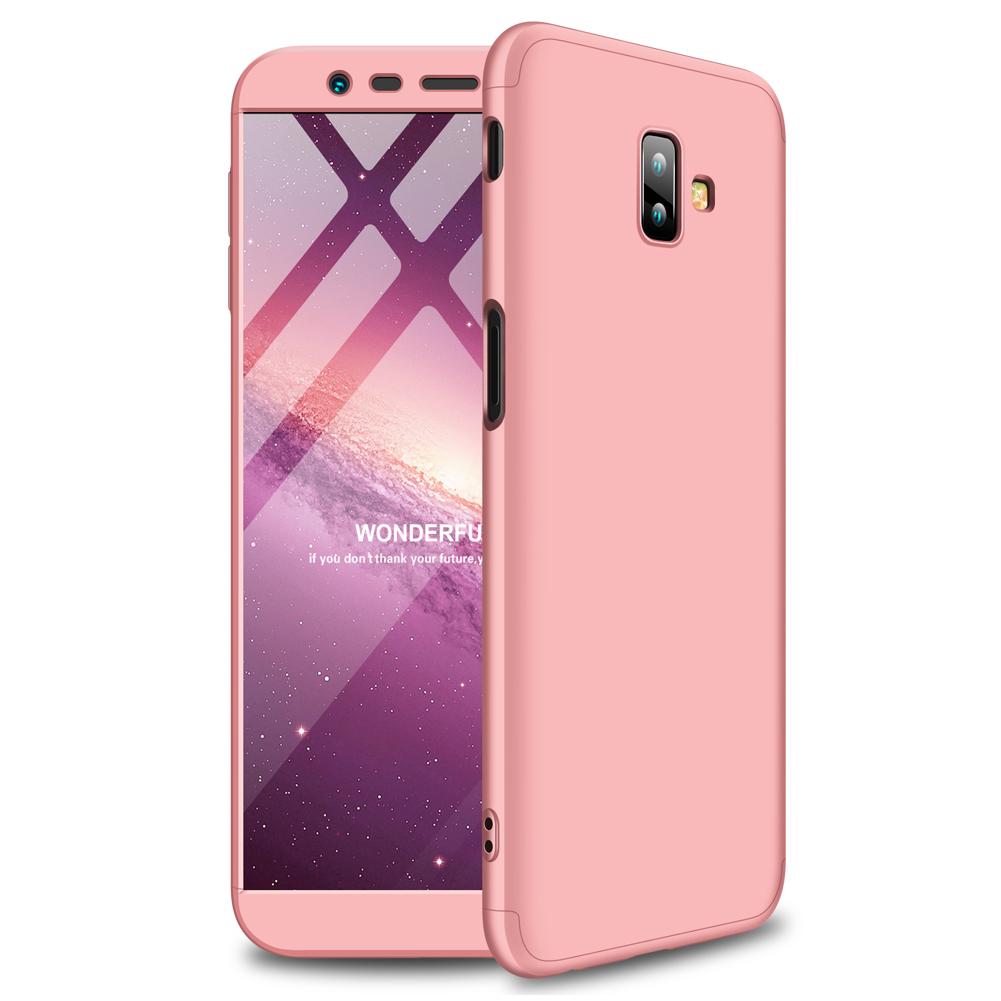 For Samsung J6 Plus/ J6 Prime 3 in 1 360 Degree Non-slip Shockproof Full Protective Case Rose gold_Samsung J6 Plus/ J6 Prime