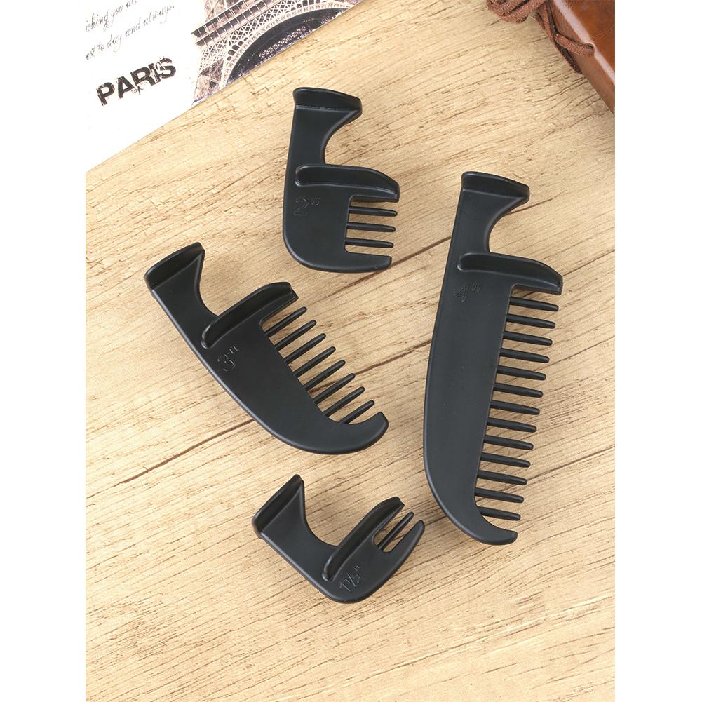 4pcs/set Haircut  Styling  Ruler Combination 4 Sizes Household Haircut Template Ruler Haircut Comb black