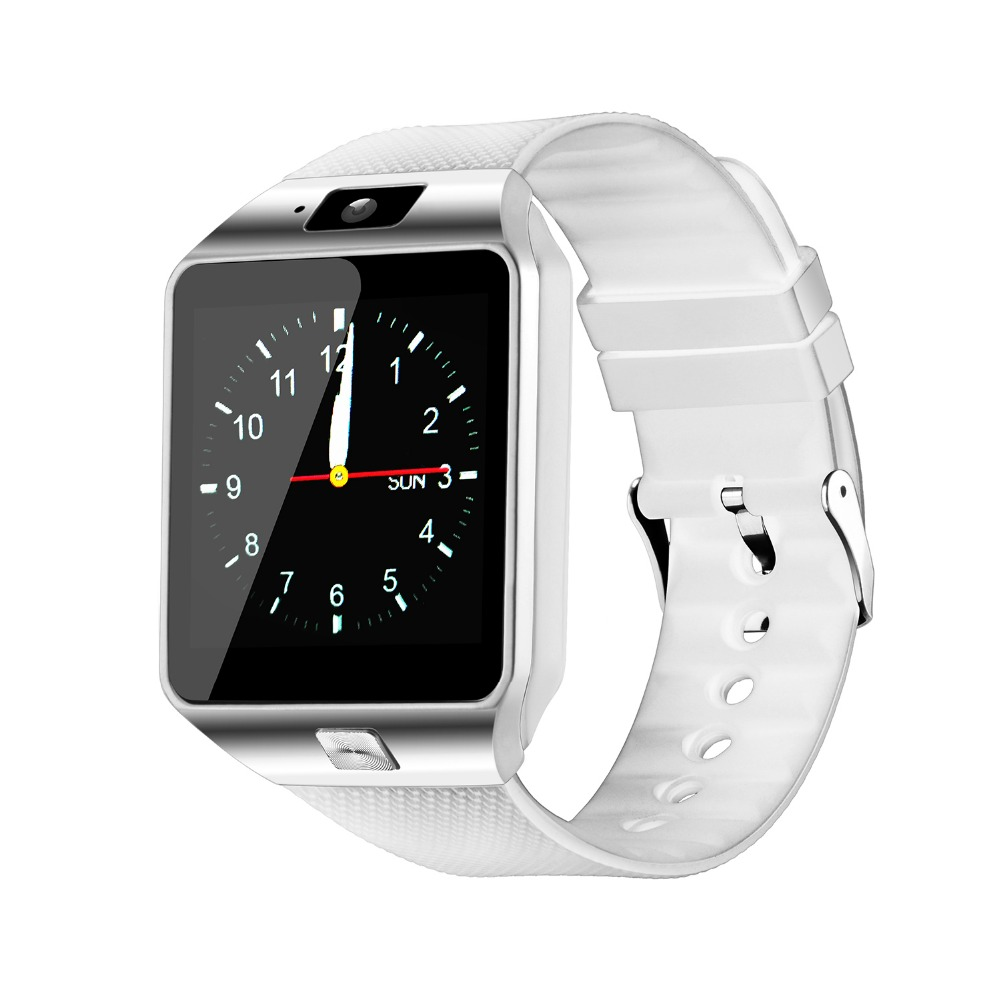 Fashion Bluetooth Smart Watch with SIM and Memory Card Support for Android & iOS Devices  White