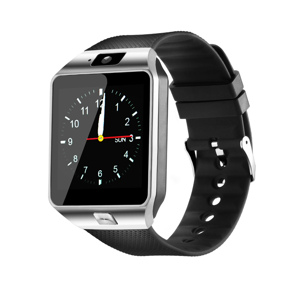 Fashion Bluetooth Smart Watch with SIM and Memory Card Support for Android & iOS Devices  Silver