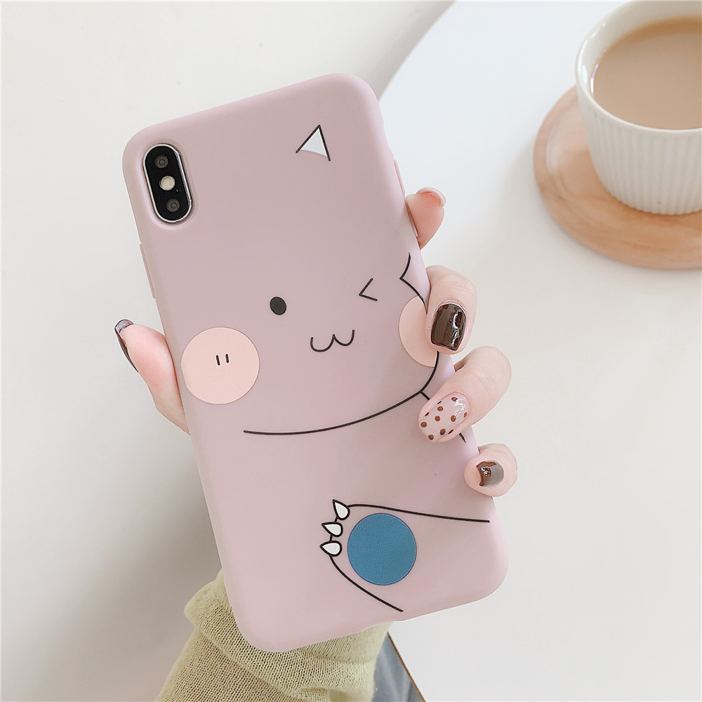 For OPPO F9/F11/A3/A5/A3S/A59/A57/A7X/A83/A9/K1/K3/Realme X Soft TPU Cellphone Case Shell Cartoon Back Cover pink