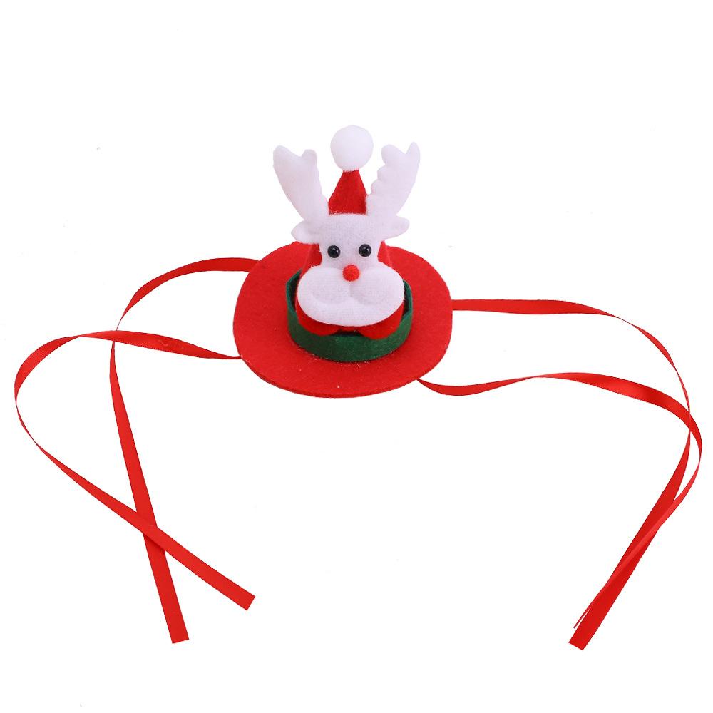 Christmas Style Pet Hat Santa Elk Headgear Christmas Celebration Pet Headwear Christmas deer cap