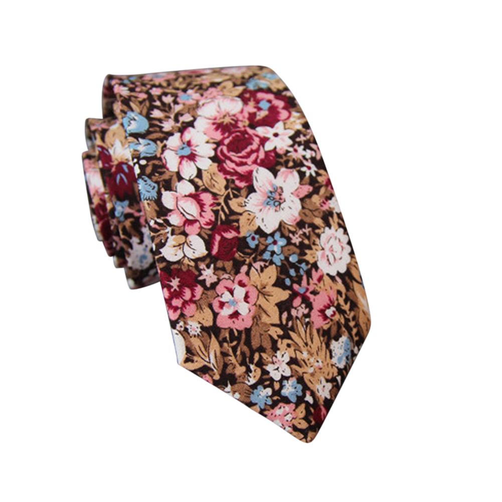 Men's Wedding Tie Floral Cotton Necktie Birthday Gifts for Man Wedding Party Business Cotton printing -040