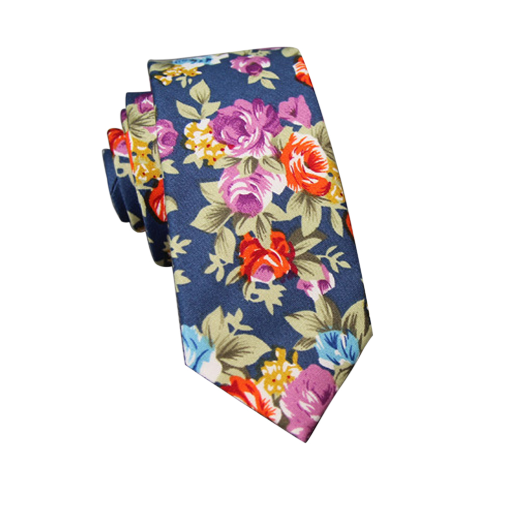 Men's Wedding Tie Floral Cotton Necktie Birthday Gifts for Man Wedding Party Business Cotton printing -038