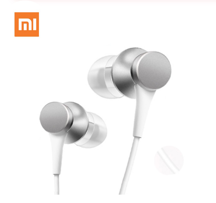 For Xiaomi Mi Piston Wired Earphone with Mic Silver