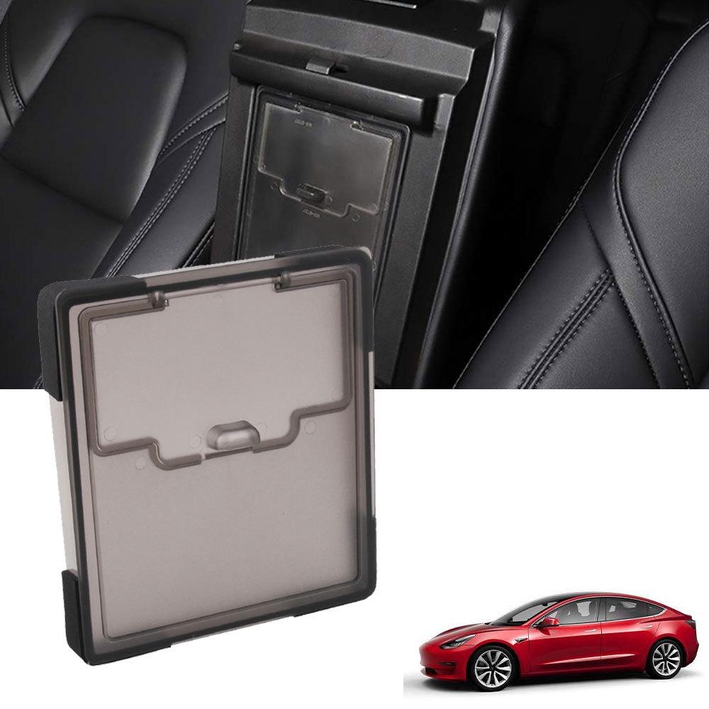 Car Center Control Storage Box Armrest Box Cover Storage Box for Tesla Model 3