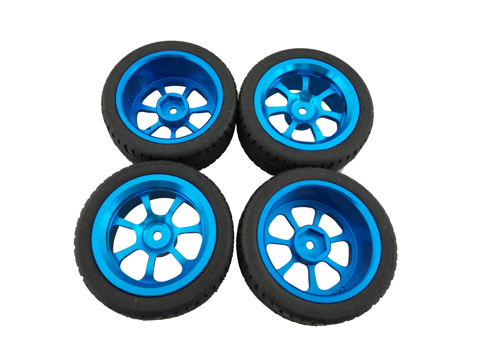 4Pcs Alloy Rims & Tires RC Car Wheels for 1/18 WLtoys A959-B A979-B A959 A969