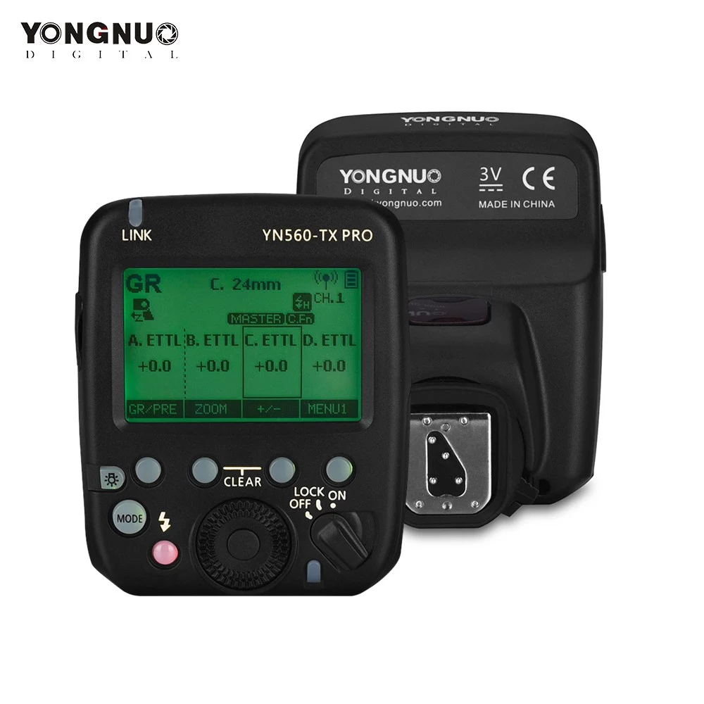 YN560-TX PRO 2.4G On-camera Flash Trigger Speedlite Wireless Transmitter with LCD Screen for Nikon DSLR Camera