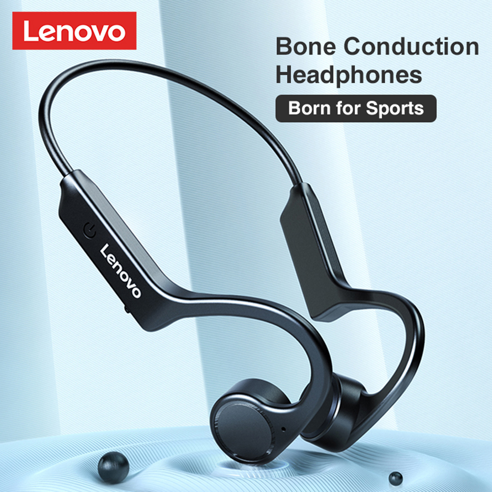 Original LENOVO X4 Bone Conduction Bluetooth Earphones Sport Running Waterproof Wireless Bluetooth Headphone Black