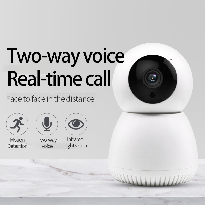 Surveillance Camera Wireless WIFI HD Night Vision Smart Small Monitor Mobile Phone Remote Network Home Monitoring 3#_EU Plug