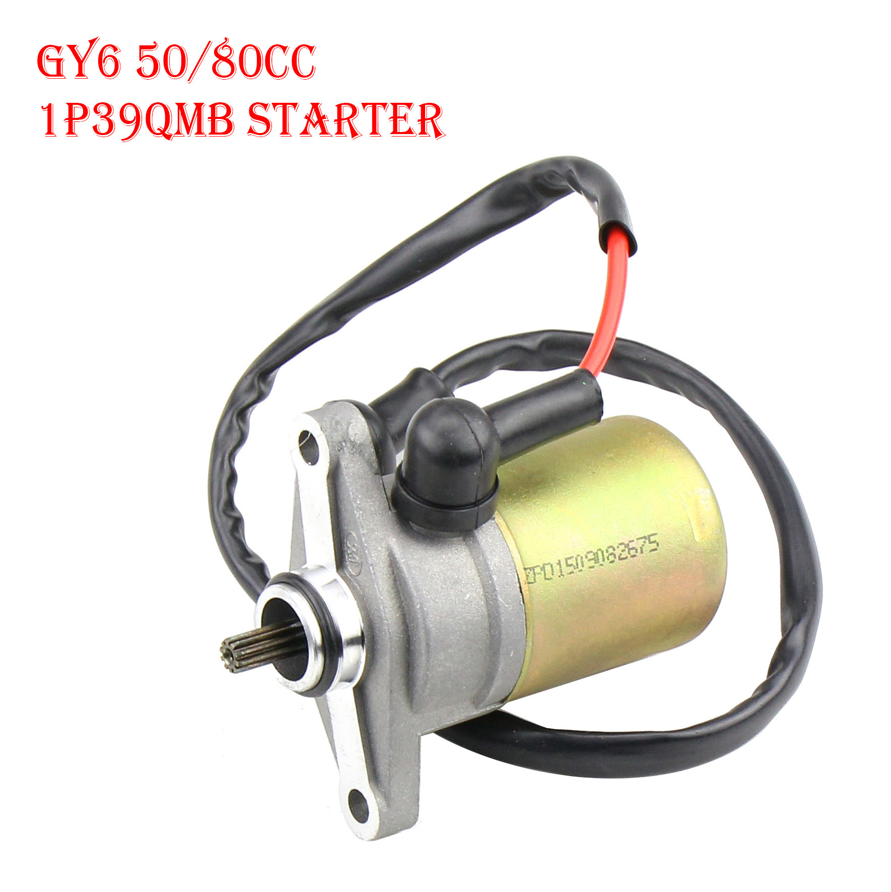 Scooter Moped Starter Starting Motor GY6 47 49 50CC for TaoTao Sunl Roketa Chinese  with line