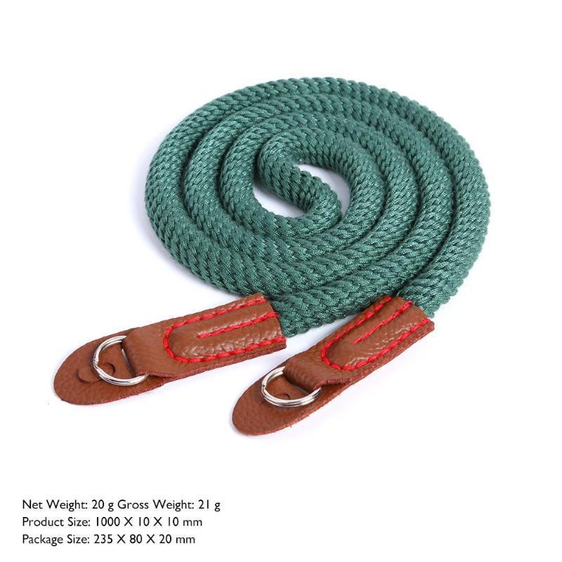 Camera Cotton Ribbon Strap Neck Shoulder Carry Belt For Leica Canon Nikon green