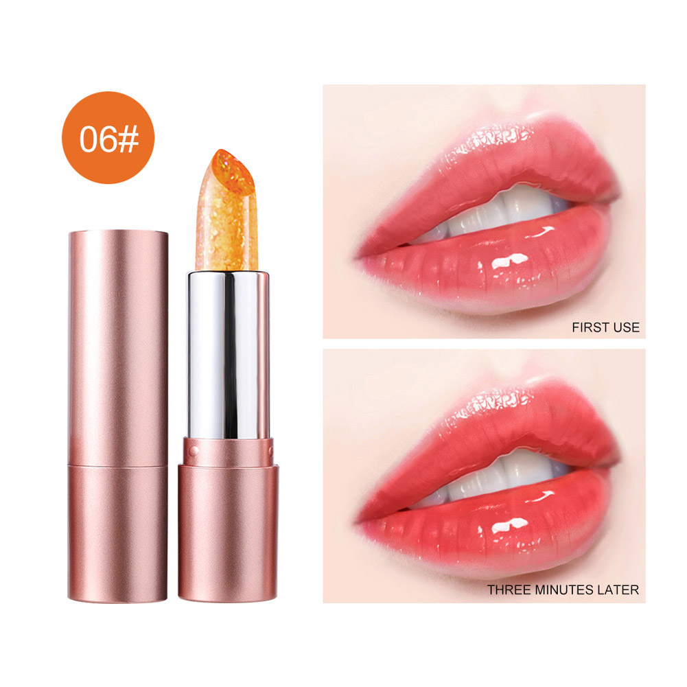 Lip Balm Non-fading Non-stick Cup Moisturizing Color Changing Lipstick Number 6