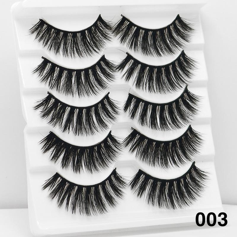 5Pairs 6D Mink Hair False Eyelashes Wispy Makeup Beauty Extension Tools 003
