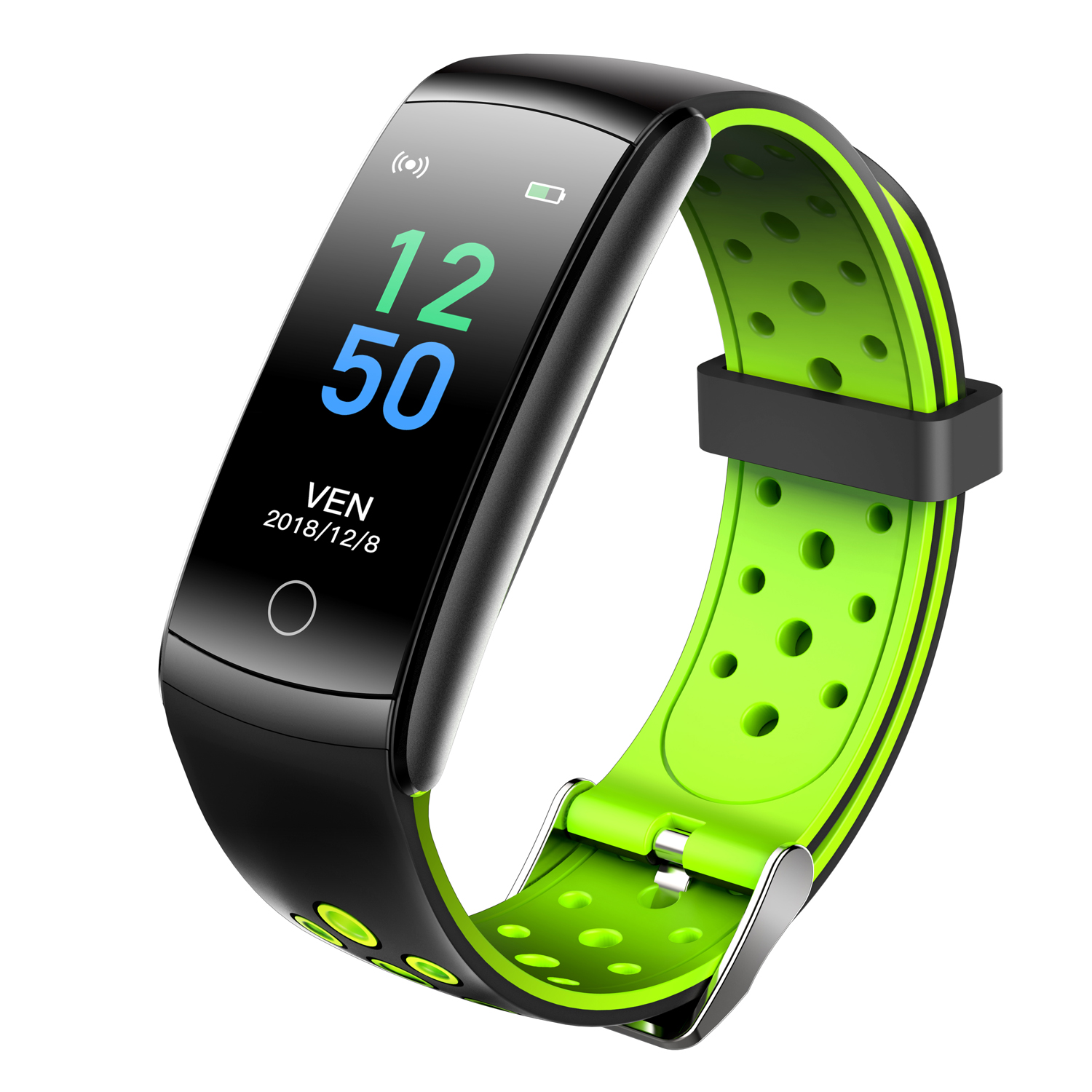 Q8L Smart Watch Fitness Bracelet 0.96inch Screen Heart Rate Blood Pressure Monitoring Intelligent Sleep Monitor Sport Pedometer Activity Tracker Green