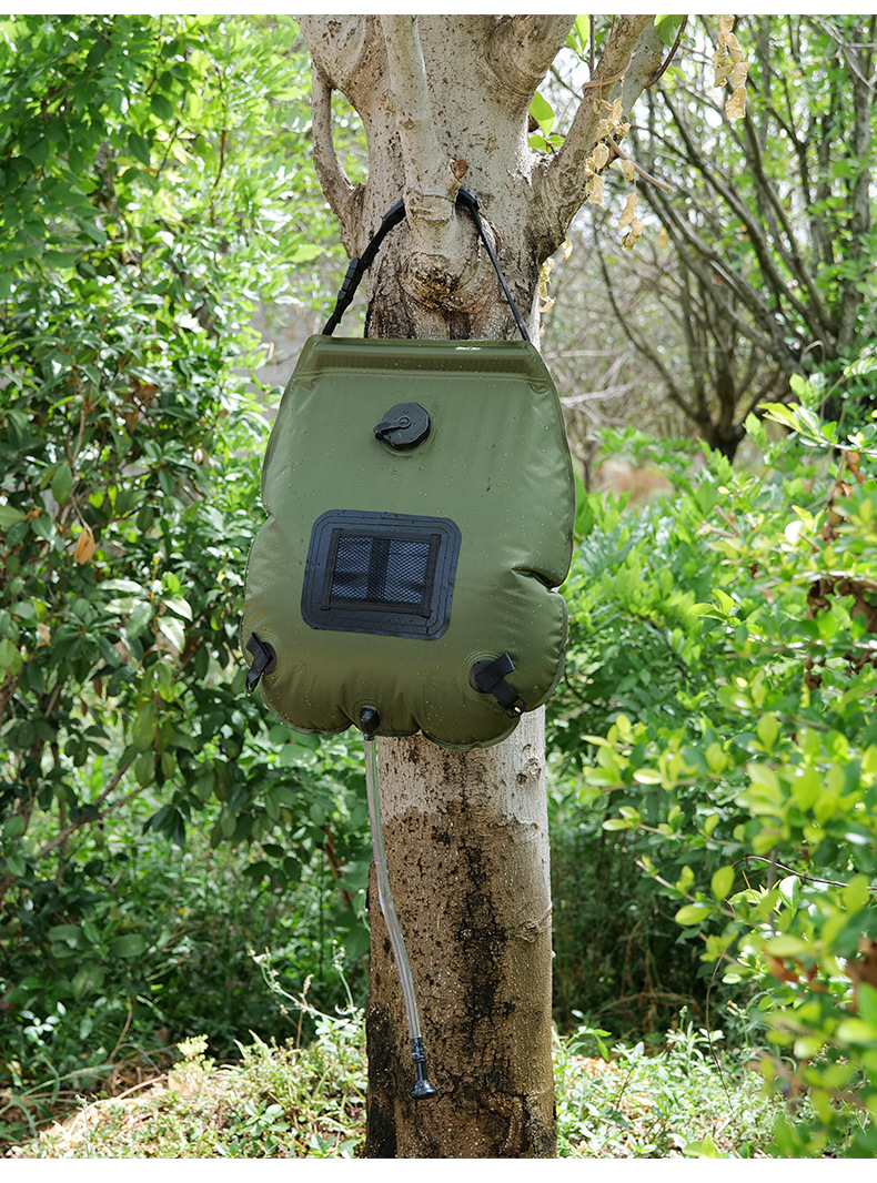 Water Bags For Outdoor Camping Hiking Solar Shower Bag 20L Heating Camping Shower Bag ArmyGreen