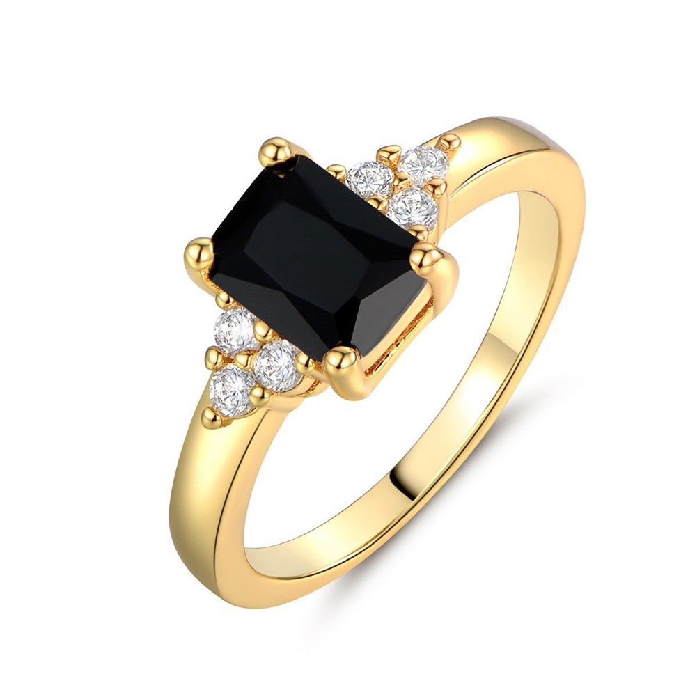 Simple Crystal Square Rings for Women Wedding Jewelry