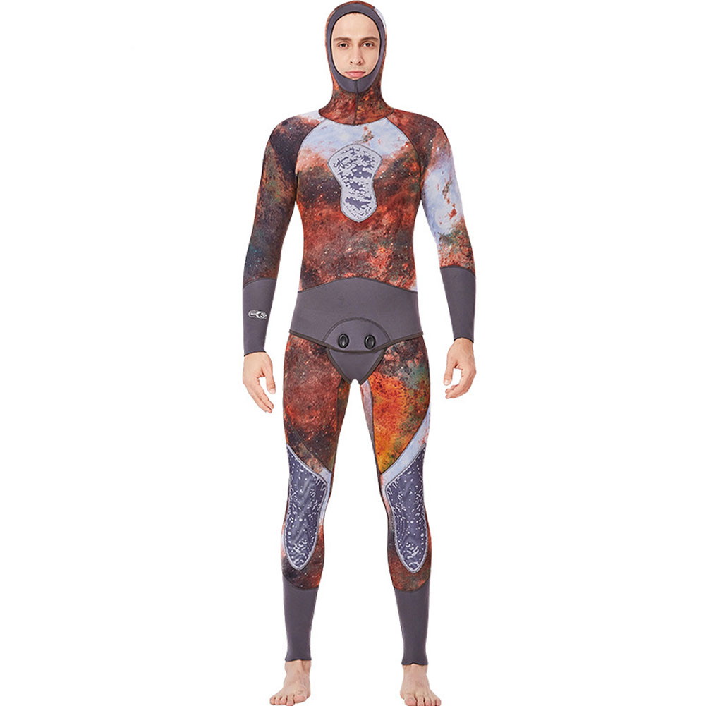 Fish Hunting Suit Men 3MM Camouflage Two parts Warm Hoodie Female Swimming Suit