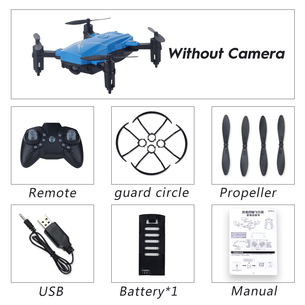 LF602 Wifi FPV RC Drone Quadcopter FPV Profesional HD Foldable Camera Drones Altitude Hold Standard 1 battery blue