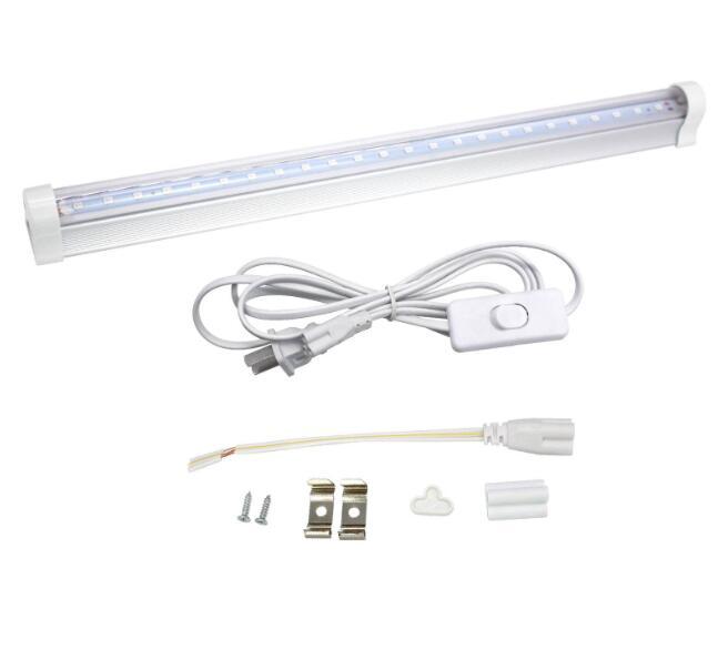 T5 30CM Ultraviolet Germicidal Light 395nm5W Tube UV Disinfection Sterilizer Lamp Tube + European plug line