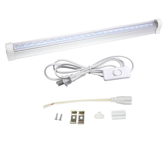 T5 30CM Ultraviolet Germicidal Light 395nm5W Tube UV Disinfection Sterilizer Lamp Tube + US plug cable