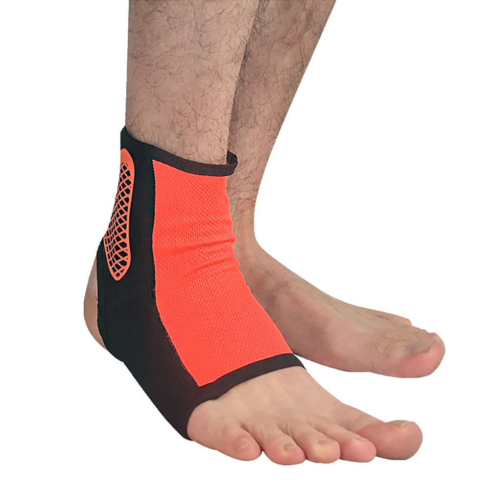 Professional Sports Ankle Support Breathable Ankle Guard Compression Socks Outdoor Basketball Football Sprain Protective Clothing Orange L