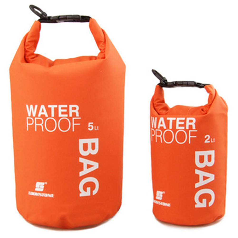 2l Pvc Storage  Bag Wear-resistant Waterproof Mesh Cloth Bag For Phone Camera Orange_2l