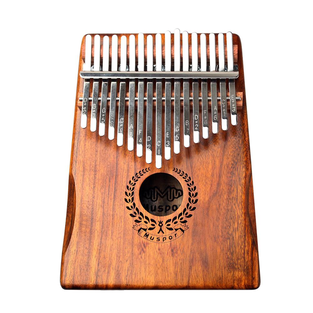 Muspor 17 Keys Wreath Acacia Kalimba Thumb Piano Mbira  Wood color