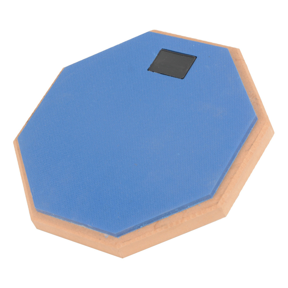 8 Inch Rubber Wooden Dumb Drum Practice Training Drum Pad Music Instruments for Jazz Drums Exercise blue