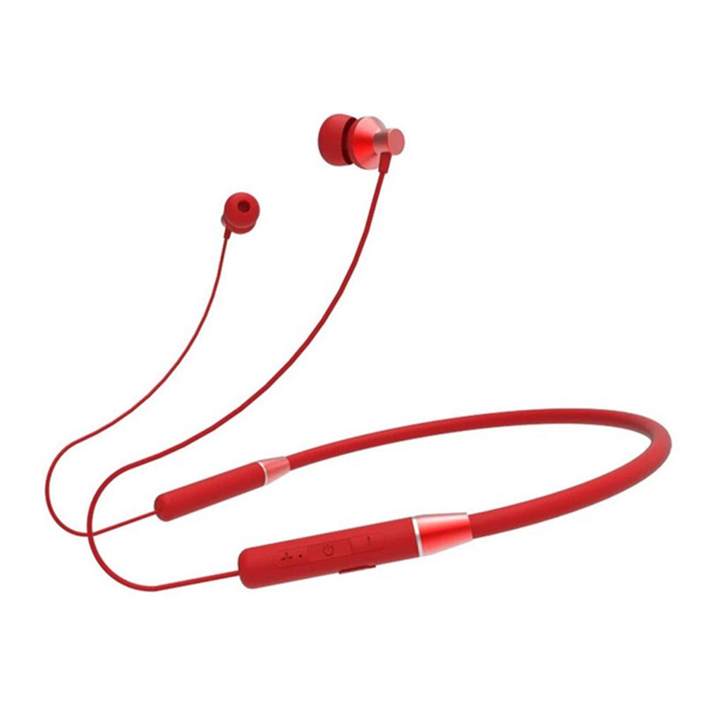 Original LENOVO He05 Wireless Neckband Earphone Bluetooth 5.0 Stereo Sports Magnetic Ipx5 Waterproof Headset red