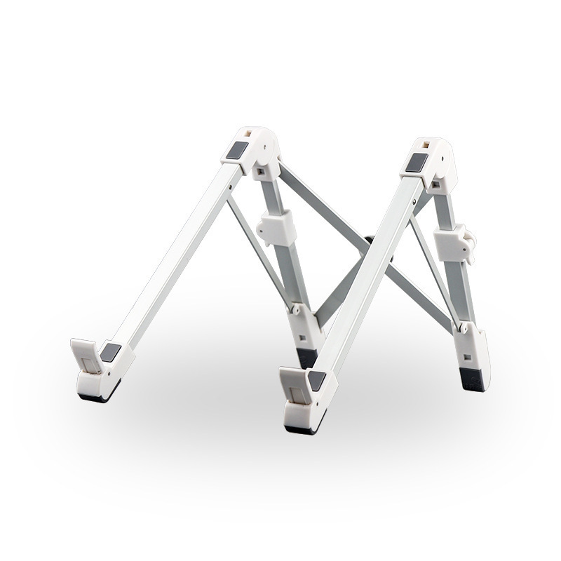 Folding Bracket Aluminum Alloy Portable Multifunctional Folding Storage Vertical Stand For Laptop white