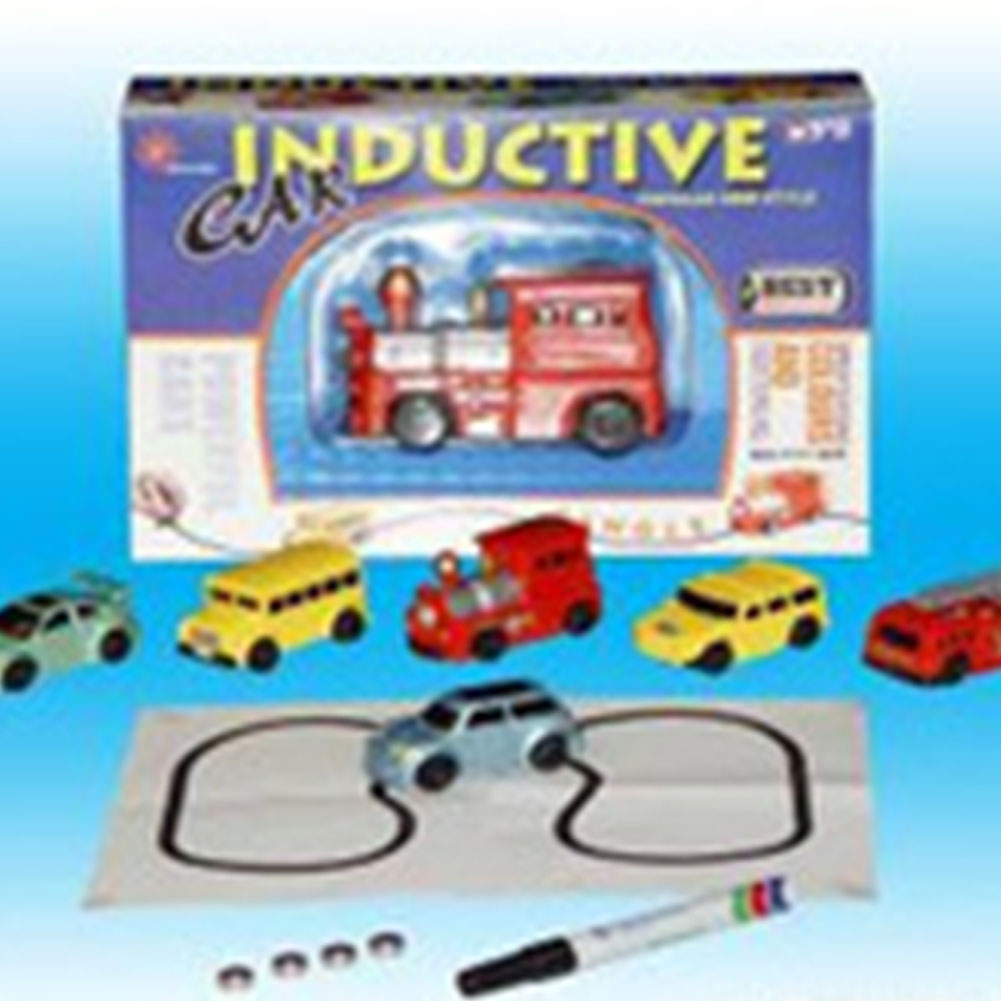 Automatic Induction Road Vehicles Crossed Induction Cars Crossed Construction Vehicles with Pen Car Children Toys