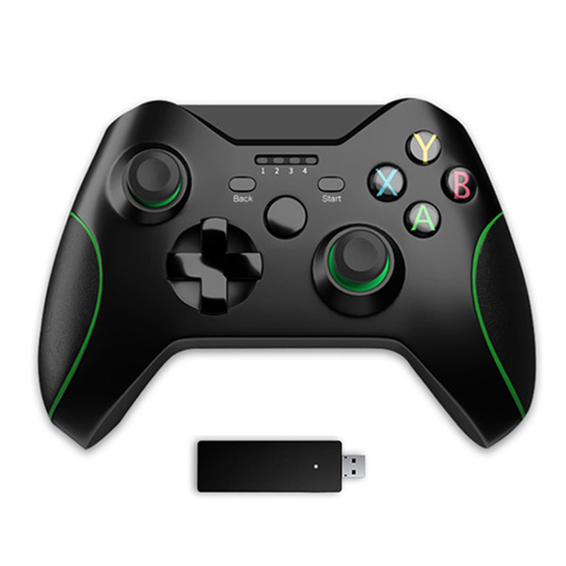 Gaming Pad 2.4G Wireless Bluetooth Gamepad Game Handle Controller Joypad Gaming Joystick for Xbox 360 for Computer PC Gamer Green black