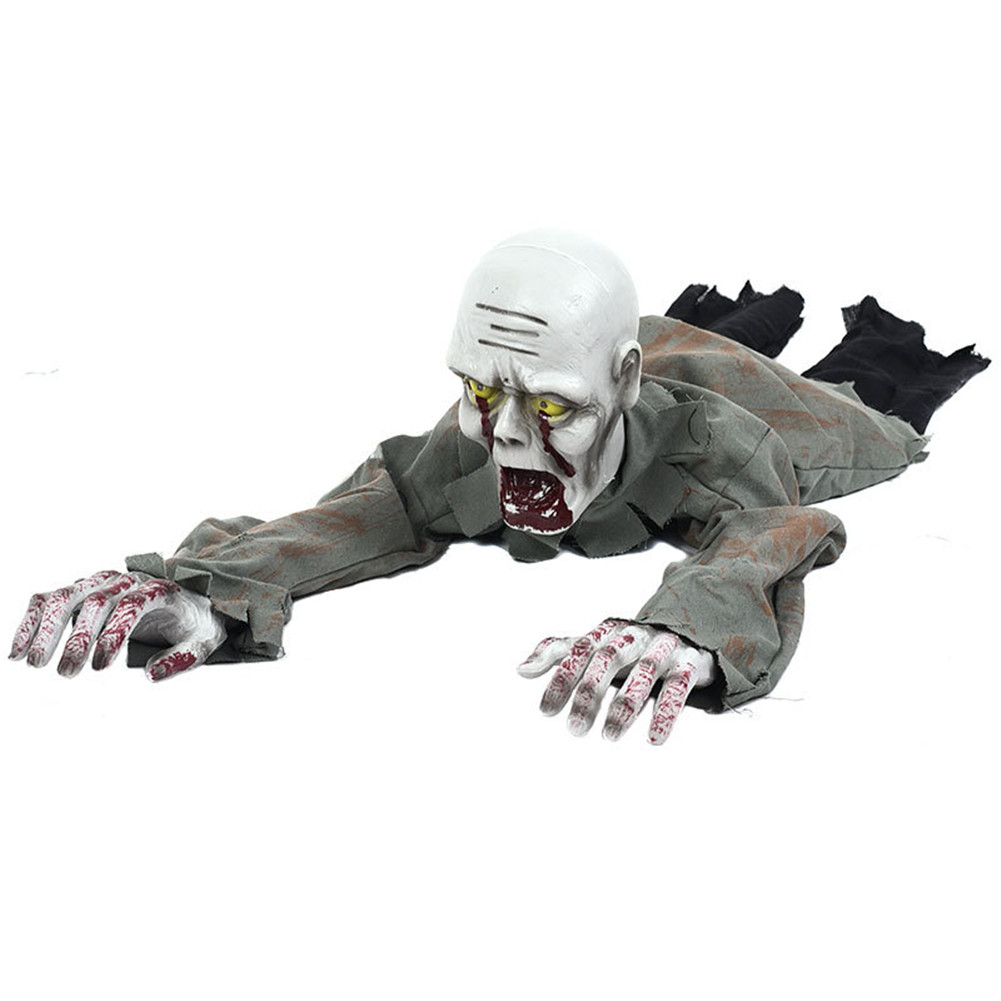 Halloween Party Decorations Horror Layout Crawling Ghosts Voice Control Toy Electric Eye Glow Crawling Ghost Haunted House Style B