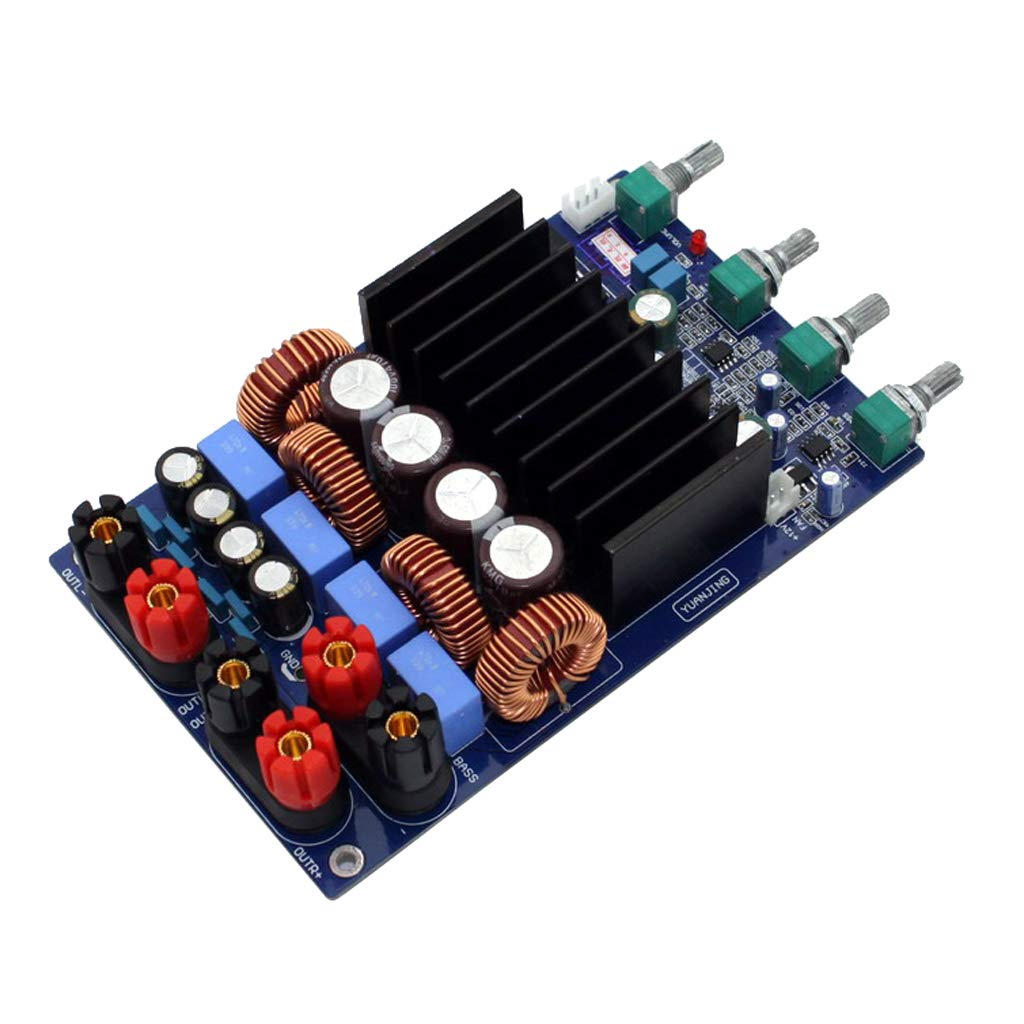 TAS5630 2.1 Class D 300W+150W+150W Tone Adjust Amplifier Completed Board(Blue Board) TAS5630 amplifier
