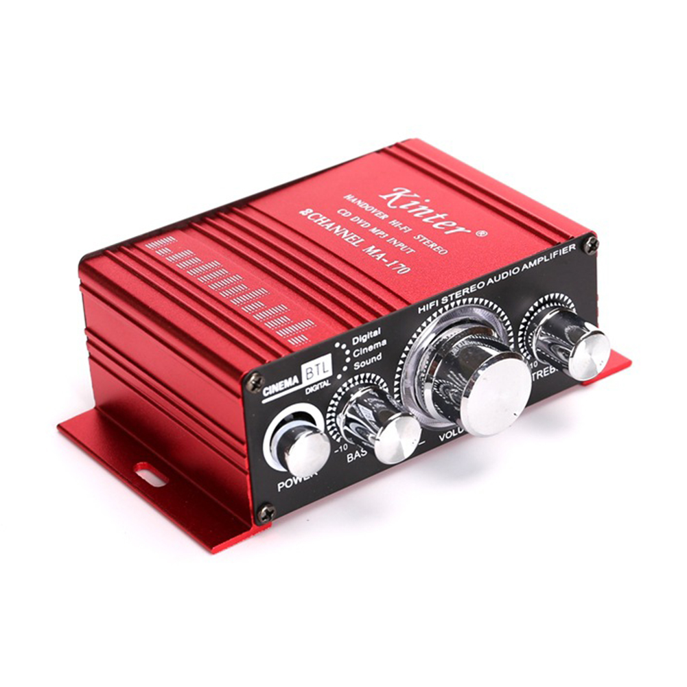 Kinter MA170 Amplifier DC12V Mini Power Amplifier Speaker Amplifier red_MA170